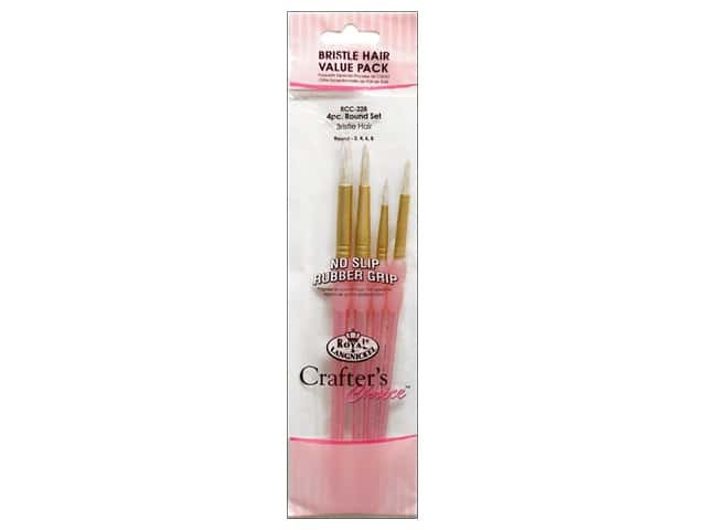 Royal Crafter's Choice Brush White Bristle Round Set 228