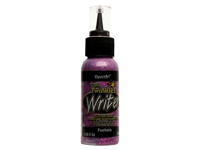 DecoArt Craft Twinkles Writer 2 oz. Fuchsia