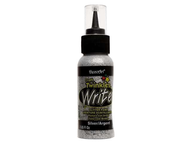 DecoArt Craft Twinkles Writer 2 oz. Silver