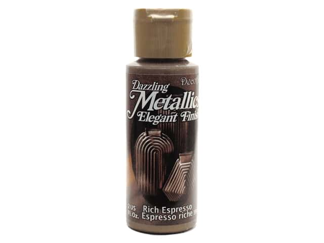 DecoArt Dazzling Metallics Paint 2oz Rich Espresso