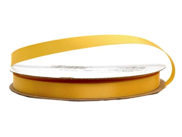 Offray Single Face Satin Ribbon 3/8 in. x 20 yd. Yellow Gold