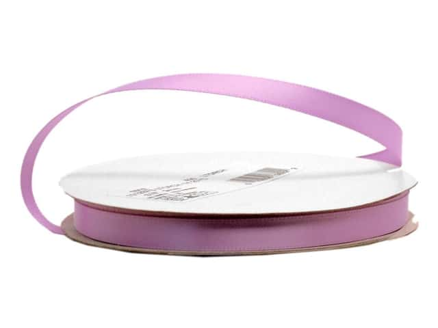 Offray Single Face Satin Ribbon 3/8 in. x 20 yd. Light Orchid