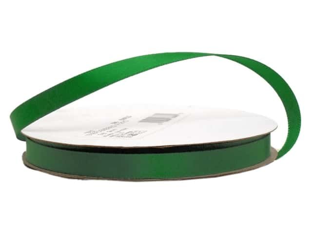 Offray Single Face Satin Ribbon 3/8 in. x 20 yd. Emerald (20 yards)