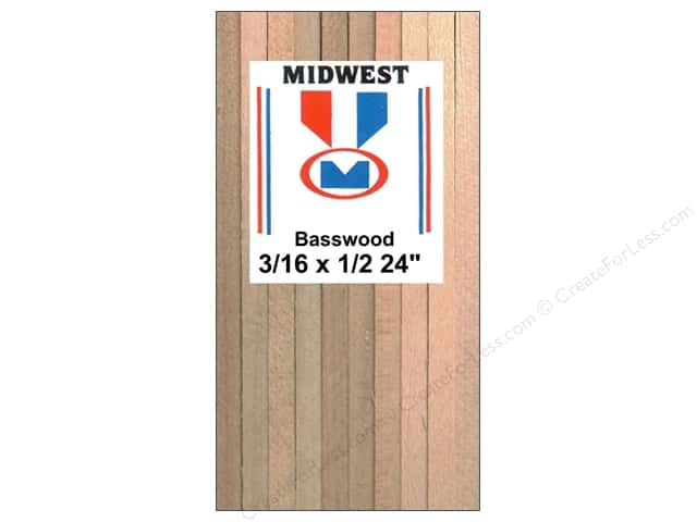 Midwest Basswood Strip 3/16 x 1/2 x 24 in.