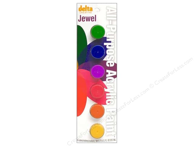 Delta Paint Pot Acrylic Jewel 6 Color