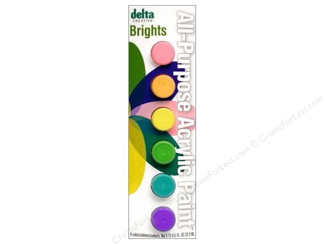 Delta Paint Pot Acrylic Brights 6 Color