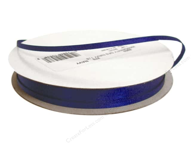 Offray Double Face Satin Ribbon 1/8 in. x 30 yd. Navy