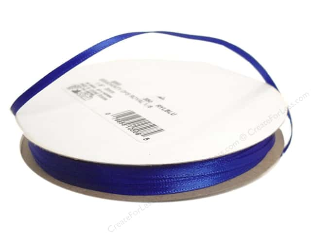Offray Double Face Satin Ribbon 1/8 in. x 30 yd. Royal Blue (30 yards)