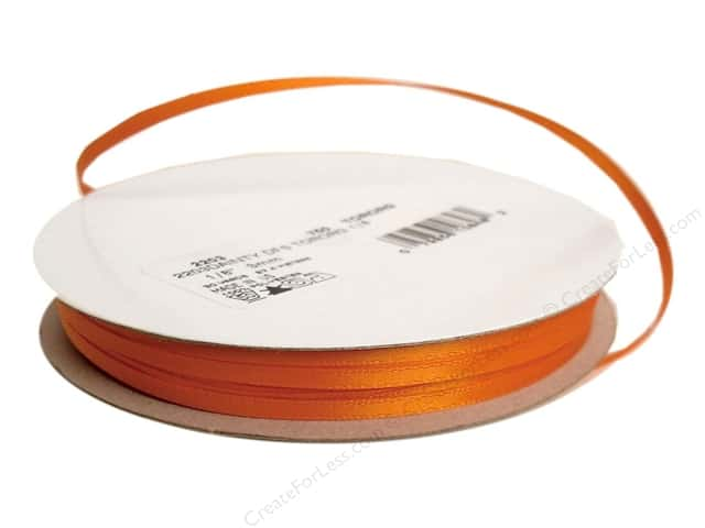 Offray Double Face Satin Ribbon 1/8 in. x 30 yd. Torrid Orange