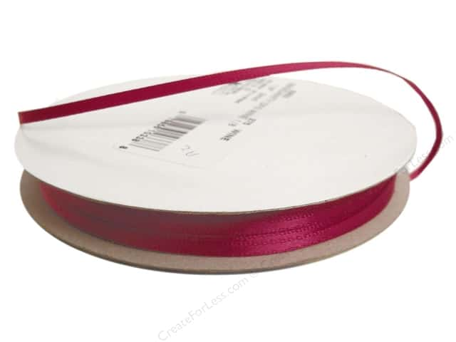 Offray Double Face Satin Ribbon 1/8 in. x 30 yd. Wine (30 yards)
