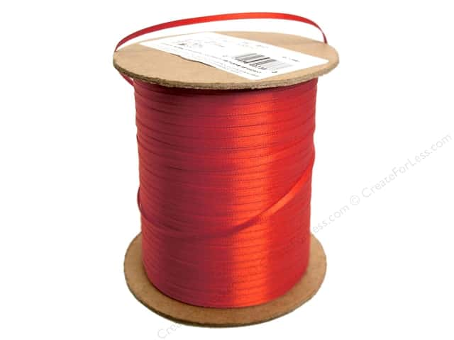 Offray Double Face Satin Ribbon 1/8 in. x 500 yd. Red (500 yards)