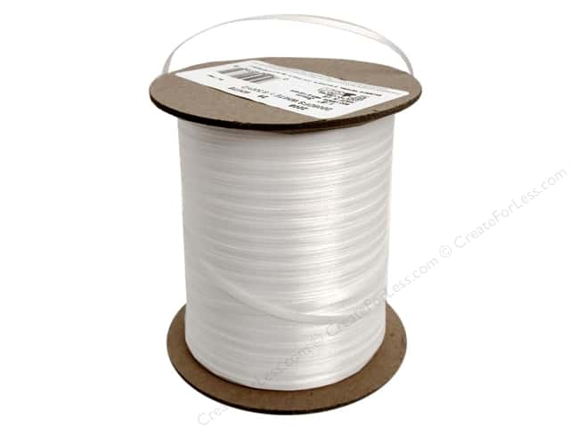 Offray Double Face Satin Ribbon 1/8 in. x 500 yd. White (500 yards)