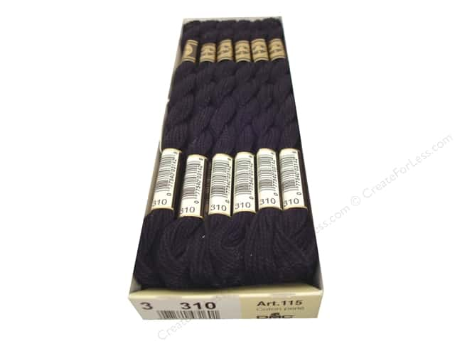 DMC Pearl Cotton Skein Size 3 Black (12 skeins)