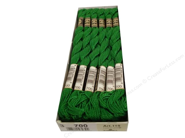 DMC Pearl Cotton Skein Size 3 #700 Bright Green (12 skeins)
