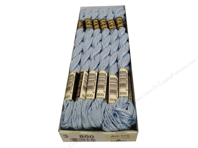 DMC Pearl Cotton Skein Size 3 #800 Pale Delft Blue (12 skeins)