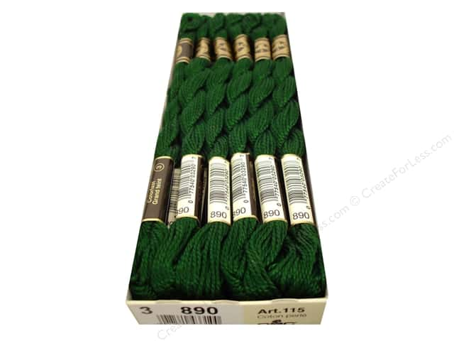 DMC Pearl Cotton Skein Size 3 #890 Ultra Light Dark Pistachio Green (12 skeins)