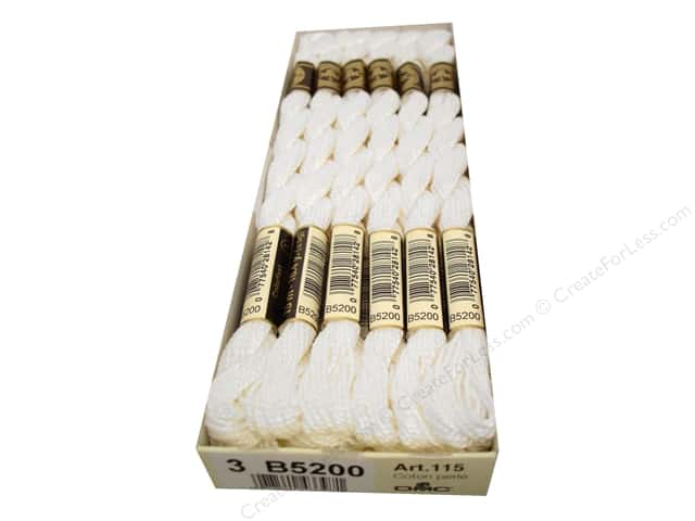 DMC Pearl Cotton Skein Size 3 #B5200 Snow White (12 skeins)