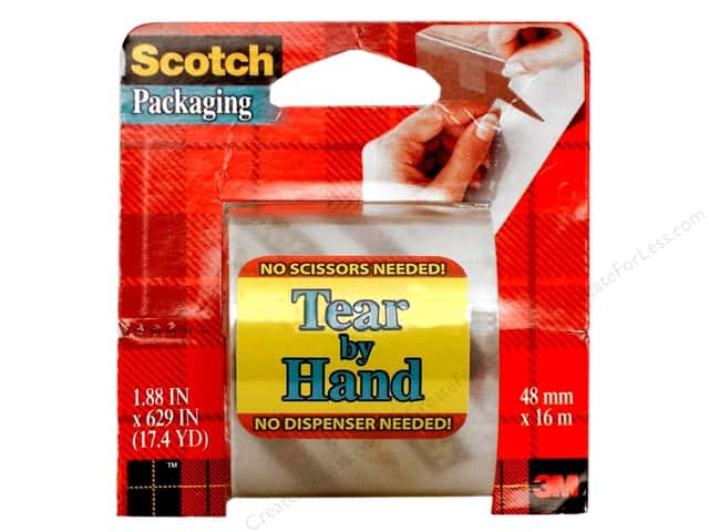 "Scotch Tape Tear-By-Hand Packaging Clear 2""x 629"""