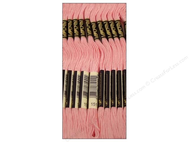 DMC Six-Strand Embroidery Floss #151 Very Light Dusty Rose (12 skeins)