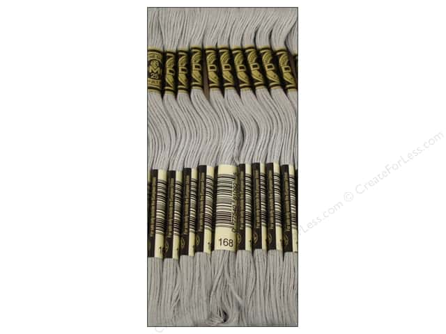 DMC Six-Strand Embroidery Floss #168 Very Light Pewter (12 skeins)