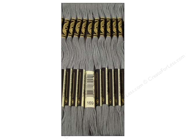 DMC Six-Strand Embroidery Floss #169 Light Pewter (12 skeins)