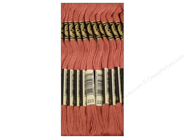 DMC Six-Strand Embroidery Floss #223 Medium Shell Pink (12 skeins)