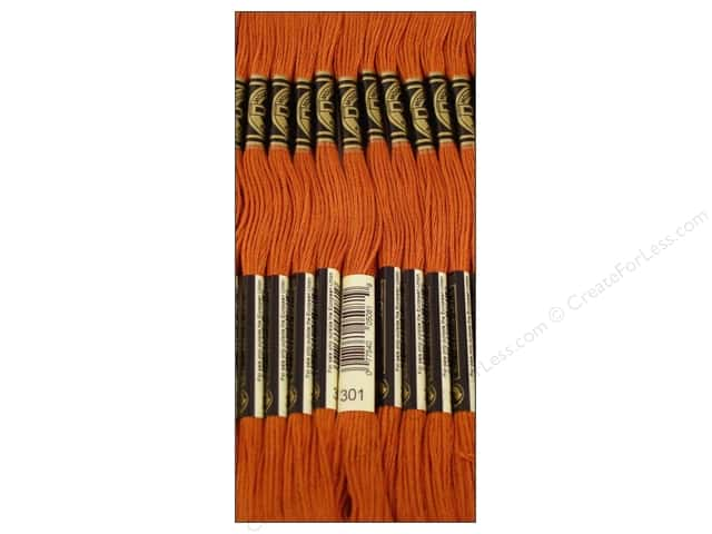 DMC Six-Strand Embroidery Floss #301 Medium Mahogany (12 skeins)