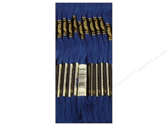 DMC Six-Strand Embroidery Floss #311 Medium Navy Blue (12 skeins)