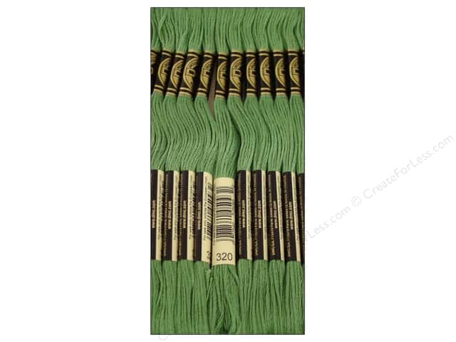 DMC Six-Strand Embroidery Floss #320 Medium Pistachio Green (12 skeins)