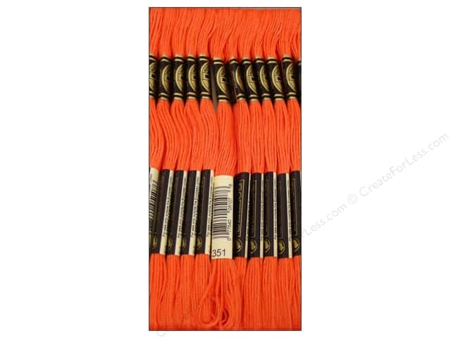 DMC Six-Strand Embroidery Floss #351 Coral (12 skeins)