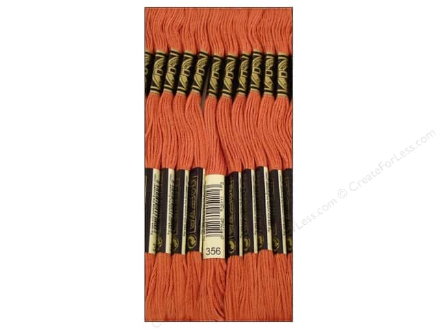 DMC Six-Strand Embroidery Floss #356 Medium Terra Cotta (12 skeins)