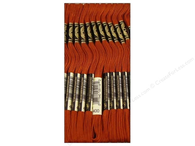 DMC Six-Strand Embroidery Floss #400 Dark Mahogany (12 skeins)