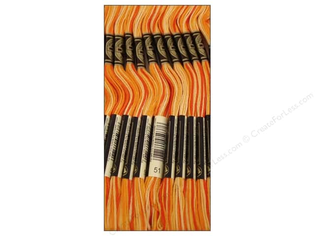 DMC Six-Strand Embroidery Floss #51 Variegated Bright Orange (12 skeins)