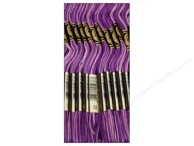 DMC Six-Strand Embroidery Floss #52 Variegated Violet (12 skeins)