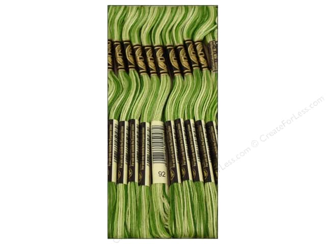 DMC Six-Strand Embroidery Floss #92 Variegated Avocado (12 skeins)