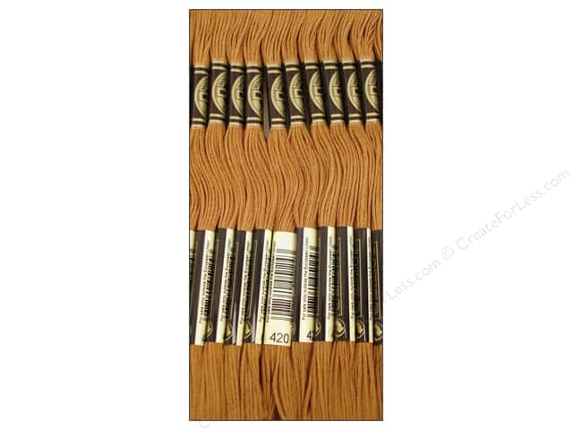 DMC Six-Strand Embroidery Floss #420 Dark Hazelnut Brown (12 skeins)