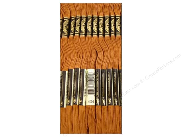 DMC Six-Strand Embroidery Floss #434 Light Brown (12 skeins)