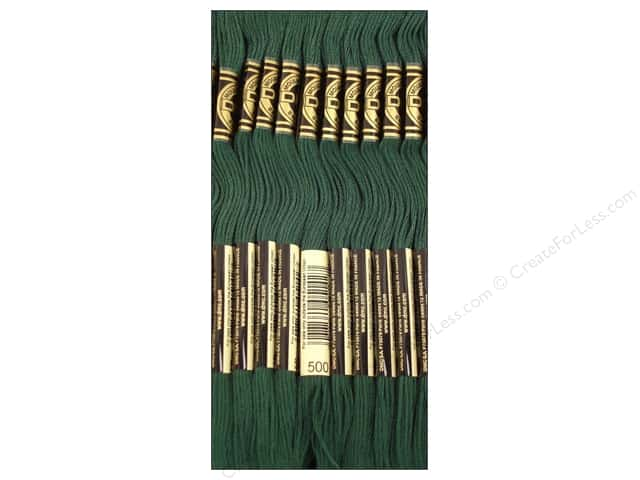 DMC Six-Strand Embroidery Floss #500 Very Dark Blue Green (12 skeins)