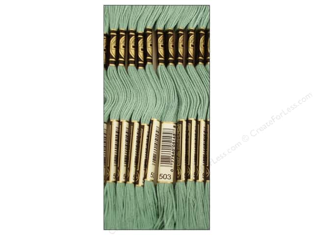 DMC Six-Strand Embroidery Floss #503 Medium Blue Green (12 skeins)
