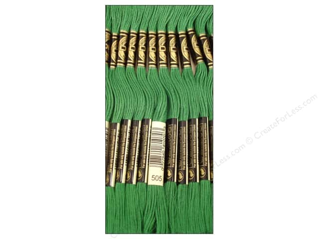 DMC Six-Strand Embroidery Floss #505 Jade Green (12 skeins)