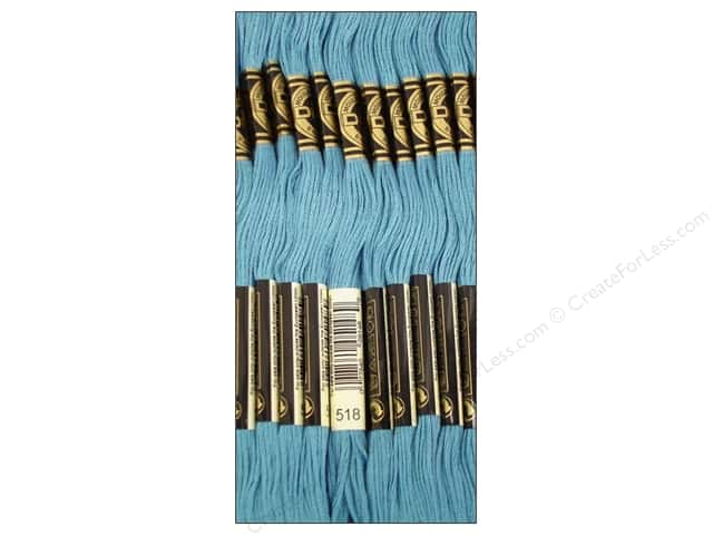 DMC Six-Strand Embroidery Floss #518 Light Wedgewood (12 skeins)