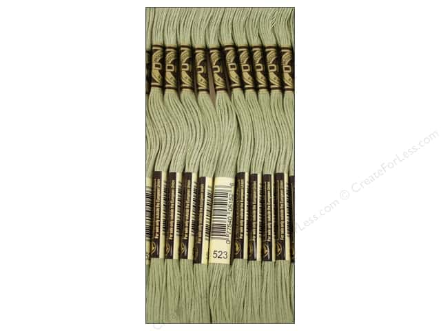 DMC Six-Strand Embroidery Floss #523 Light Fern Green (12 skeins)