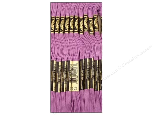 DMC Six-Strand Embroidery Floss #553 Violet (12 skeins)