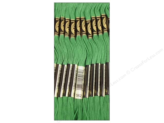 DMC Six-Strand Embroidery Floss #562 Medium Jade (12 skeins)