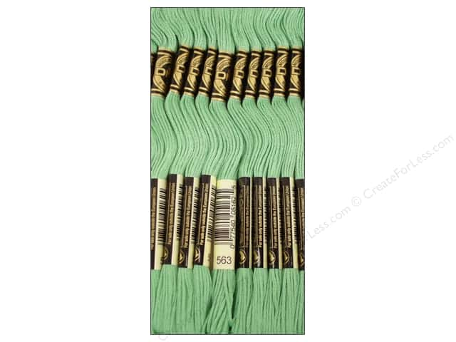 DMC Six-Strand Embroidery Floss #563 Light Jade (12 skeins)