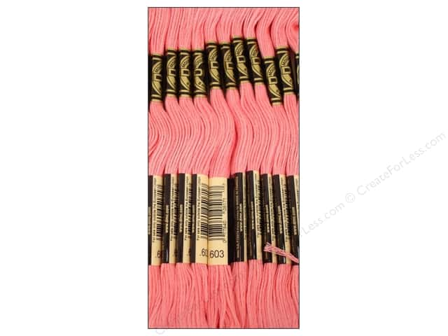 DMC Six-Strand Embroidery Floss #603 Cranberry (12 skeins)