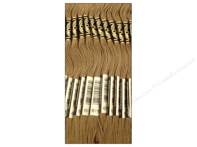 DMC Six-Strand Embroidery Floss #611 Drab Brown (12 skeins)