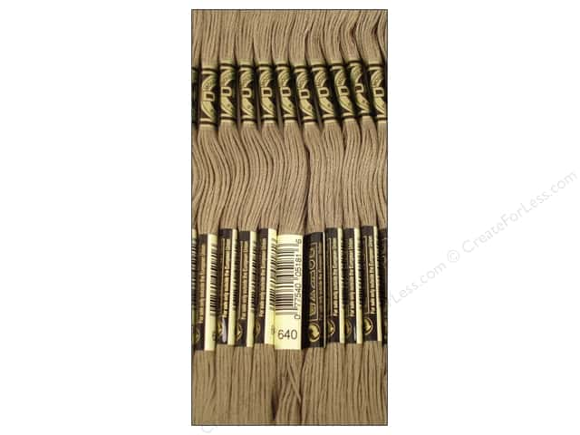 DMC Six-Strand Embroidery Floss #640 Very Dark Beige Grey (12 skeins)