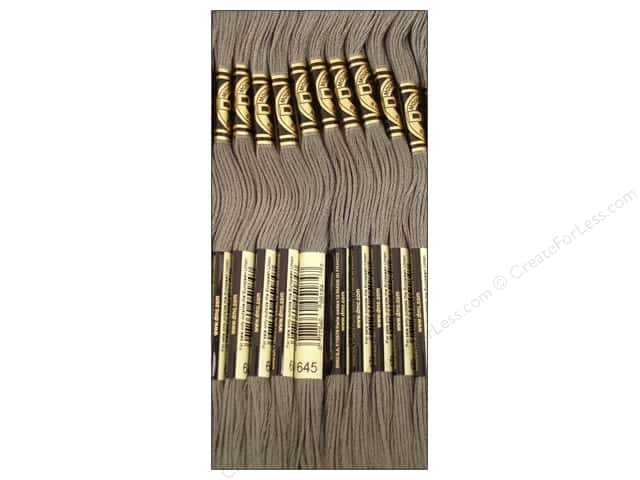DMC Six-Strand Embroidery Floss #645 Very Dark Beaver Grey (12 skeins)