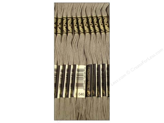 DMC Six-Strand Embroidery Floss #646 Dark Beaver Grey (12 skeins)